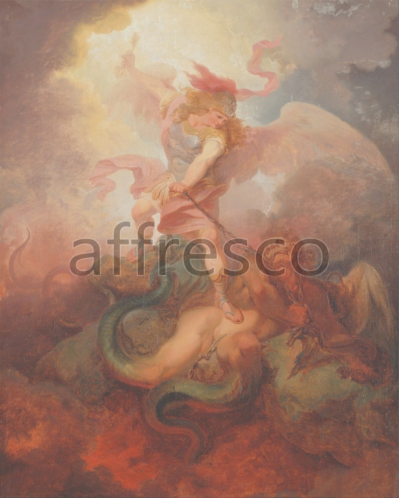 Biblical themes | Philippe Jacques de Loutherbourg The Angel Binding Satan | Affresco Factory