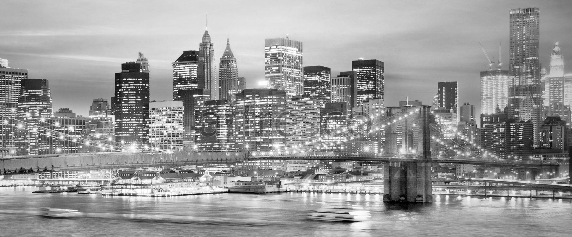ID10099 | Pictures of Cities  | Black and white city panorama | Affresco Factory