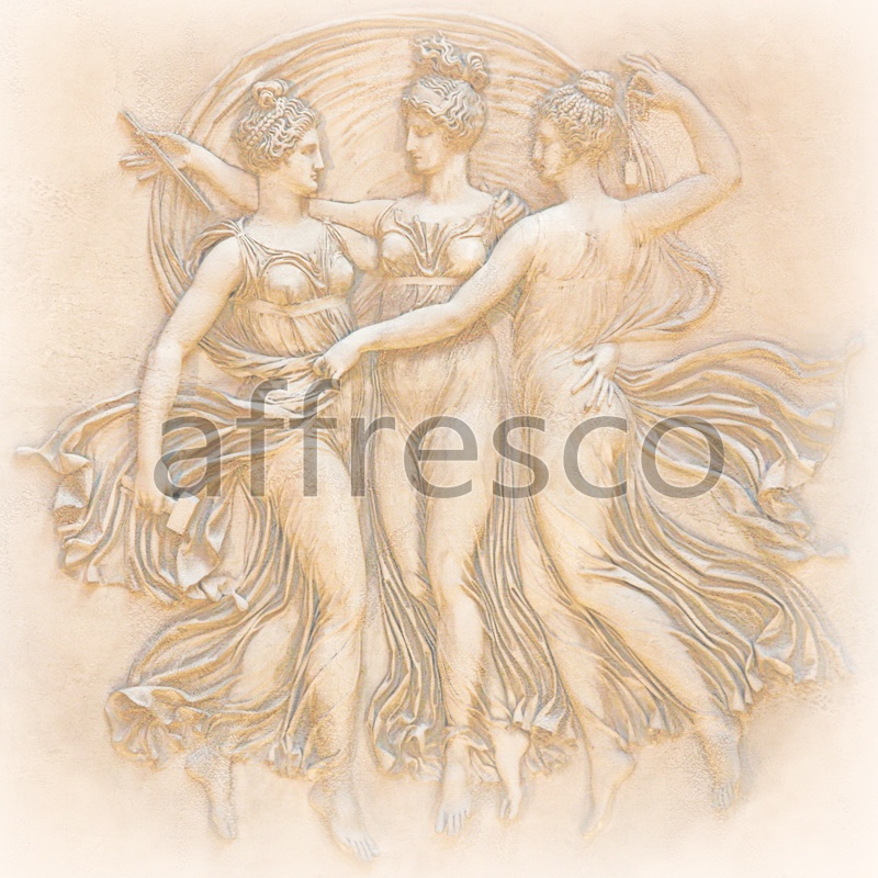 3317 | Classic Scenes | bas-relief naked woman | Affresco Factory