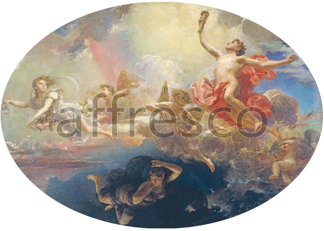 Classical antiquity themes | Antoni Caba The Triumph of Day over Night Preceded by Dawn | Affresco Factory