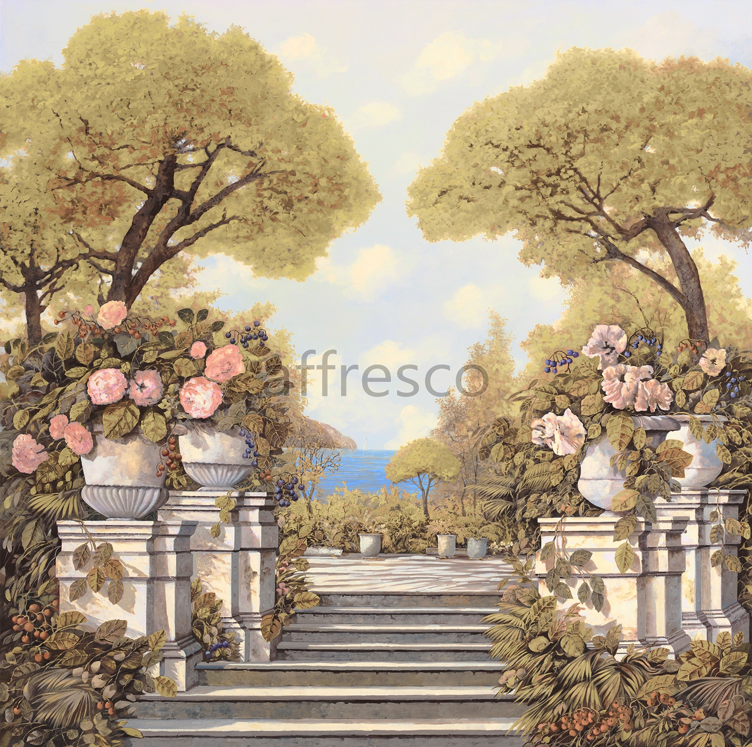 6731 | Picturesque scenery | Stairs to a garden | Affresco Factory