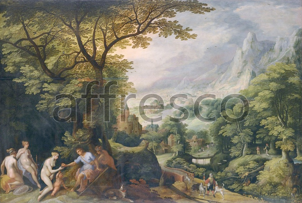 Scenic themes | Gillis van Coninxloo Landscape with the Judgement of Paris | Affresco Factory