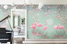 Handmade wallpaper, Handmade wallpaper | Flamingo