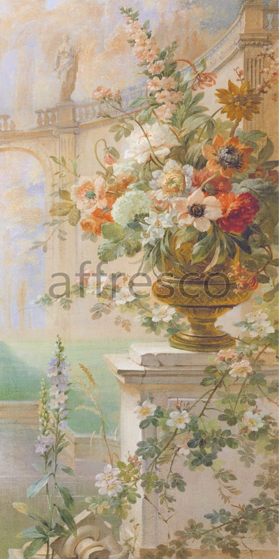6231 | Picturesque scenery | Flowers in a vase | Affresco Factory