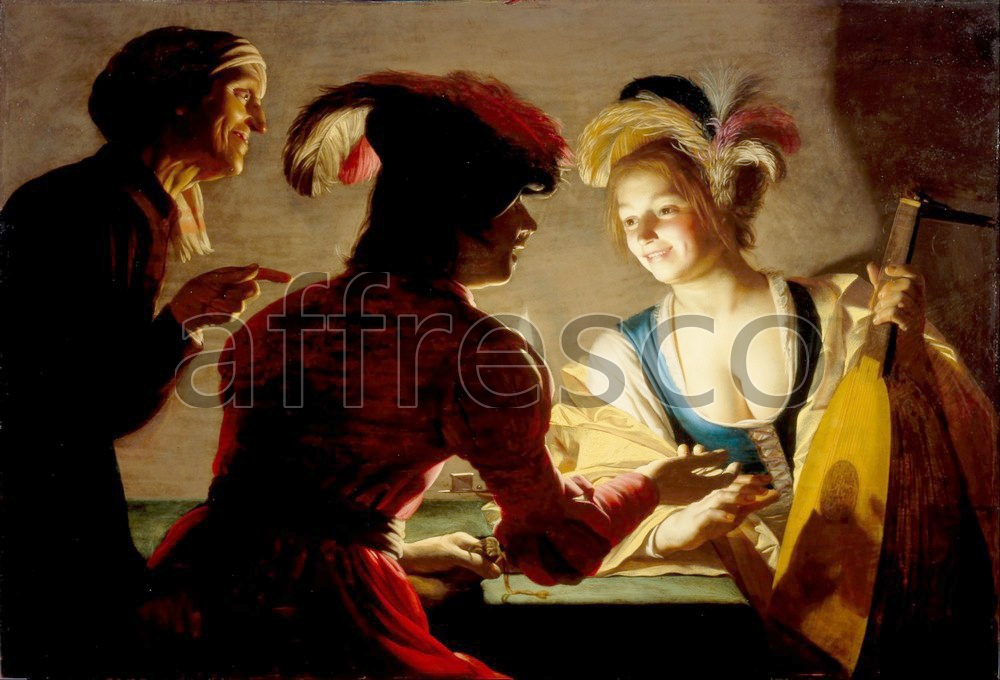Scenic themes | Gerard van Honthorst The procuress | Affresco Factory