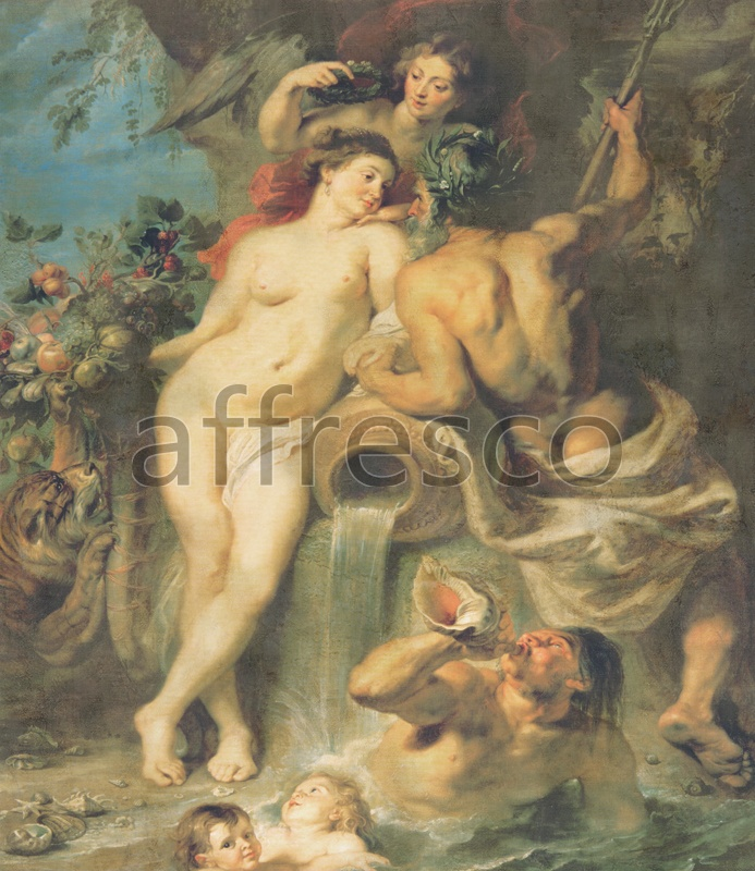 3170 | Classic Scenes | naked woman with a jug | Affresco Factory