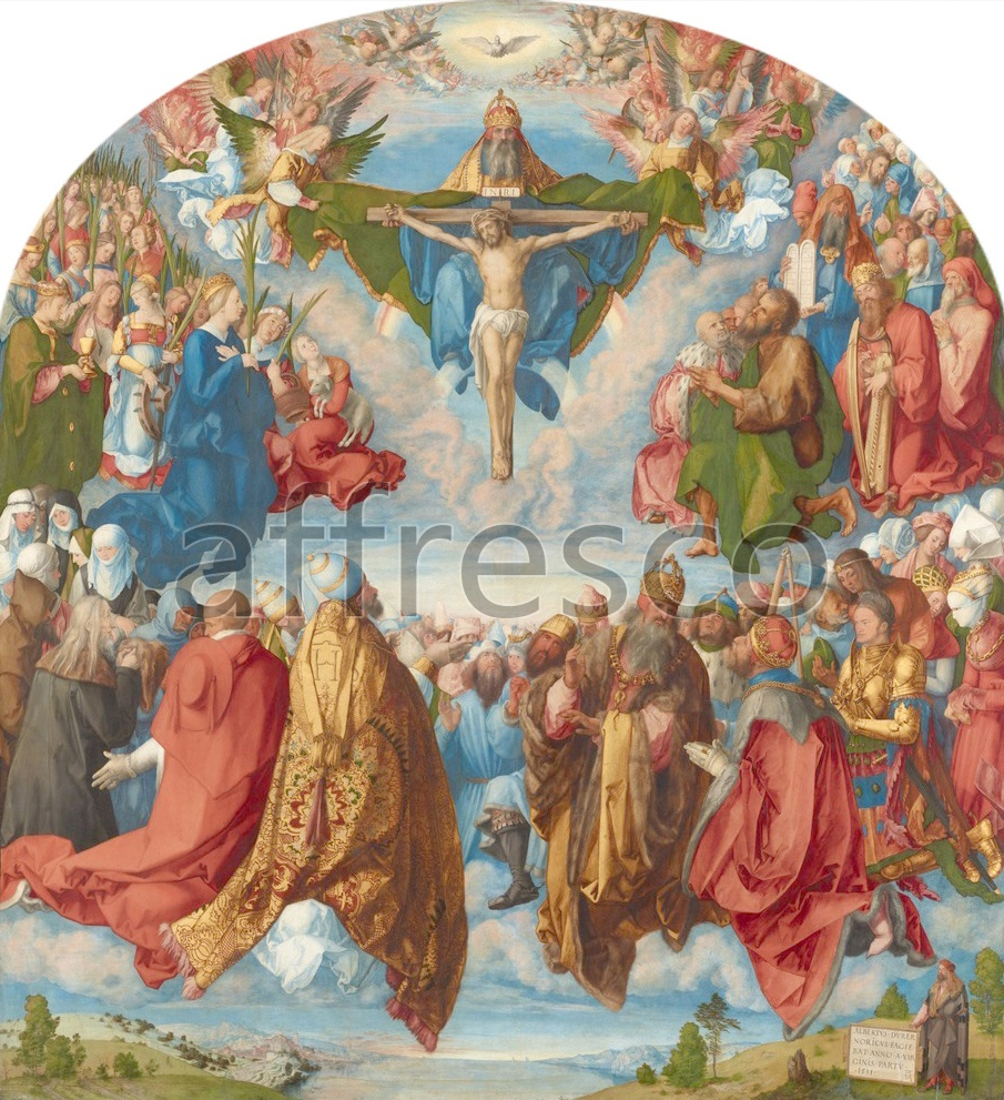 Biblical themes | Albrecht Durer Adoration of the Trinity | Affresco Factory
