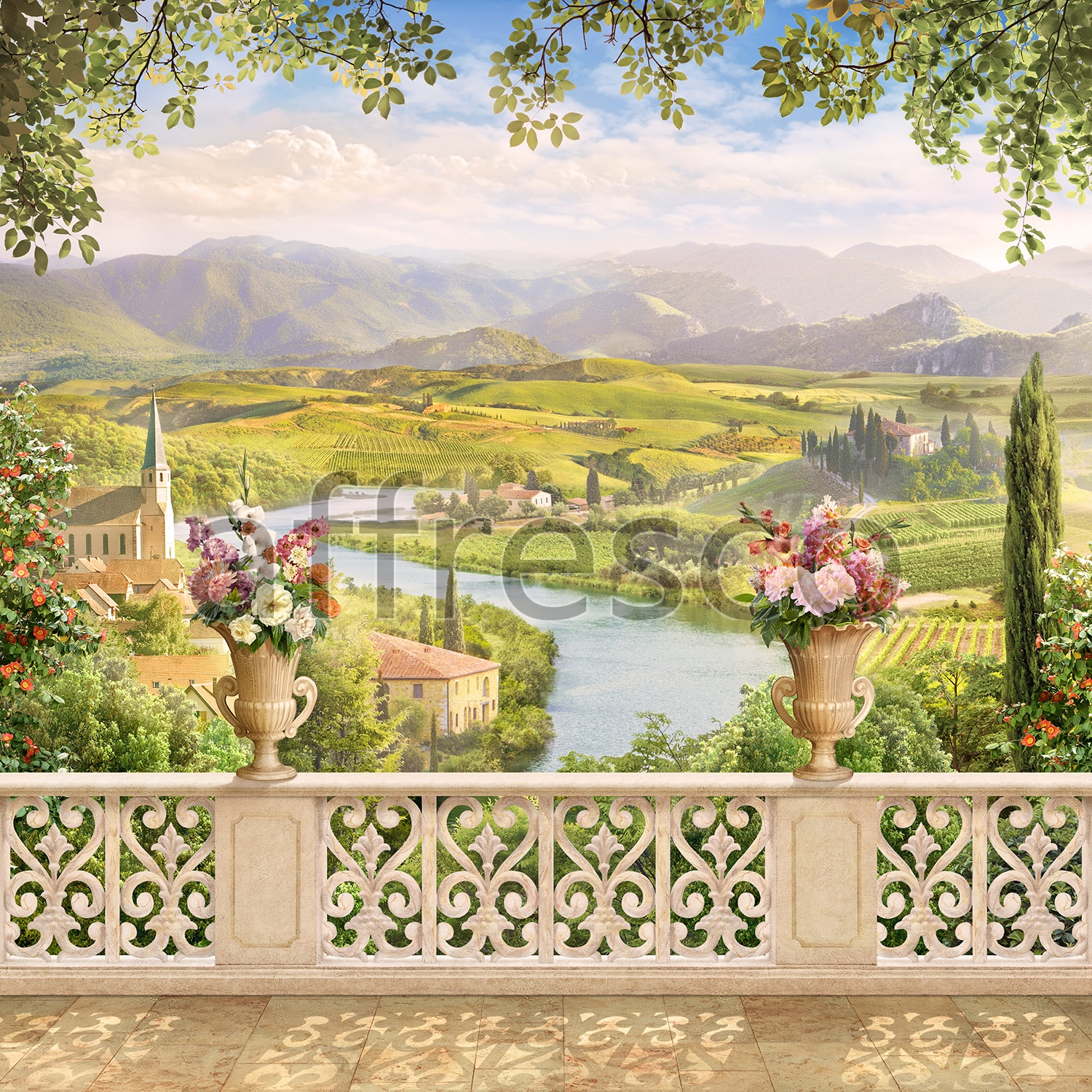6530 | The best landscapes | Balcony Provence | Affresco Factory
