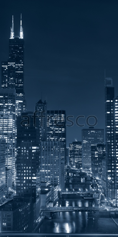 ID11576 | Pictures of Cities  | Night skyscrappers | Affresco Factory