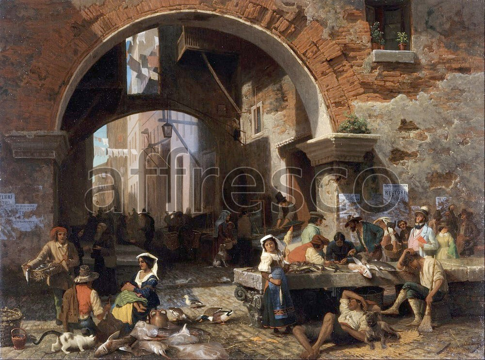Scenic themes | Albert Bierstadt Roman Fish Market Arch of Octavius | Affresco Factory