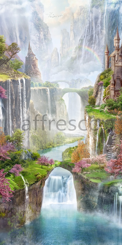 6546 | The best landscapes | Cascades of waterfalls | Affresco Factory