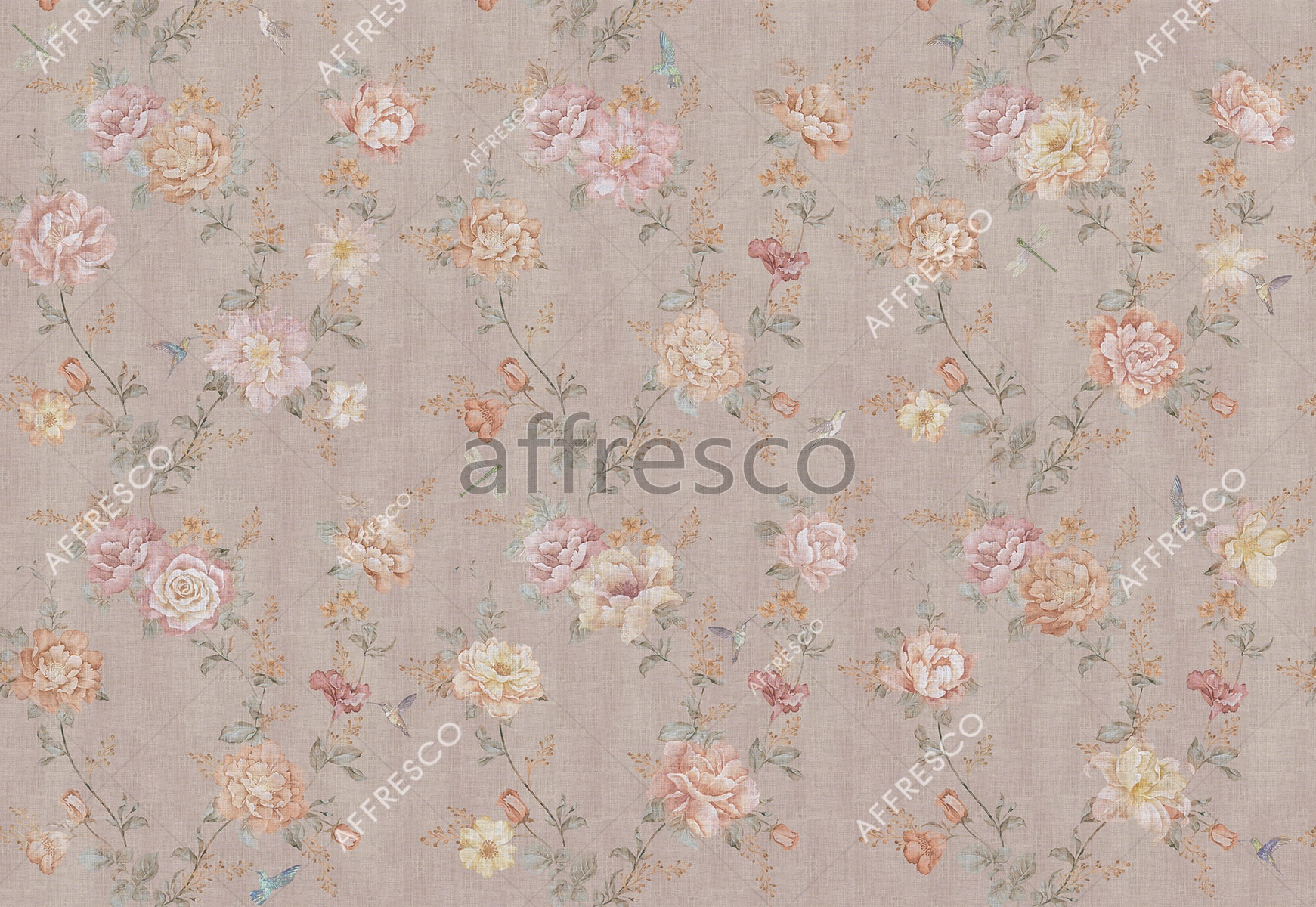 Handmade wallpaper, Flower story