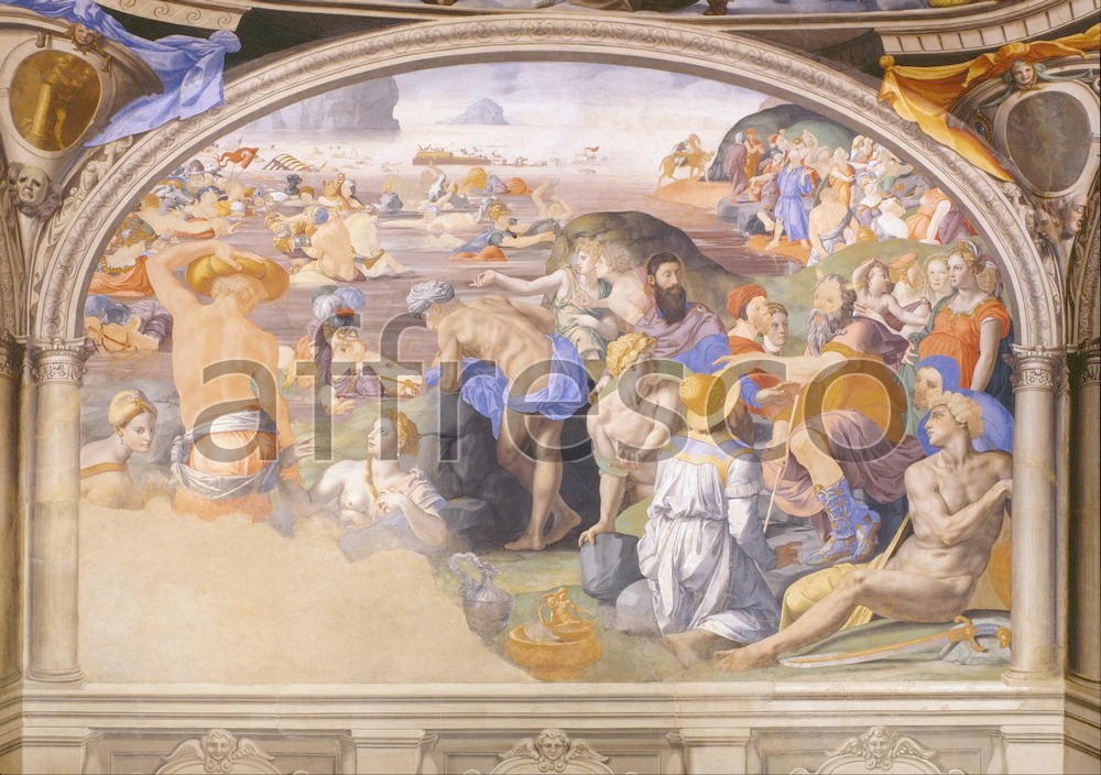 Biblical themes | Agnolo Bronzino The crossing of the Red Sea 2 | Affresco Factory