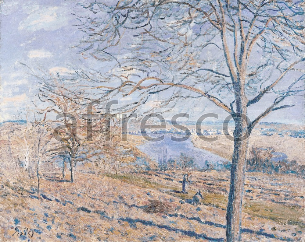 Impressionists & Post-Impressionists | Alferd Sisley Banks of the Loing Autumn Effect | Affresco Factory